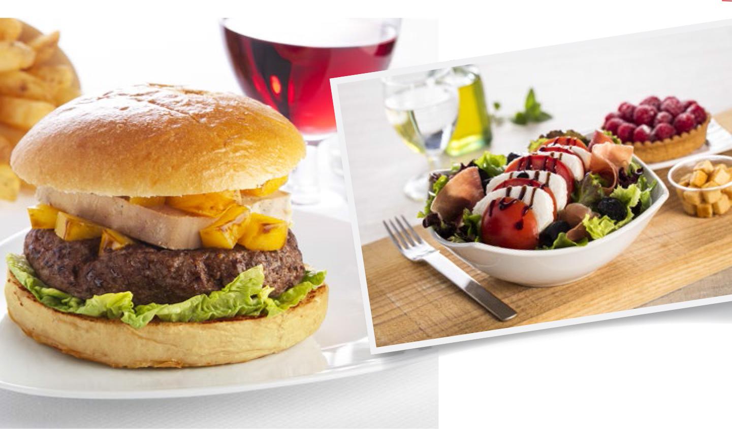 Salade et Burger
